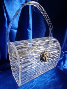 Vintage WILARDY Clear Carved Lucite Purse Carved by RememberMaMa, $325.00