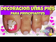 ♥Decoración de uñas flores fácil ♥Flores Básicas para uñas♥/Flores FÁCILES/ basic flowers for nails - YouTube Toe Nail Art, Toe Nails, Toe Nail Designs, Healthy Nails, Nail Art Galleries, Nail Tutorials, Manicure And Pedicure, Lily, Flowers
