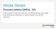 Processo seletivo UNIFAL - MG - https://anoticiadodia.com/processo-seletivo-unifal-mg/