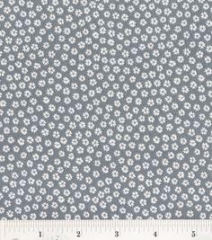 Keepsake Calico Fabric- Silhouette Daisy Gray & keepsake calico fabric at Joann.com