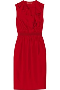 Ruffled silk-twill dress by Giambattista Valli
