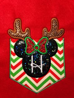 Christmas reindeer mouse head Short Sleeve by SewSparklyByHeather, $29.00