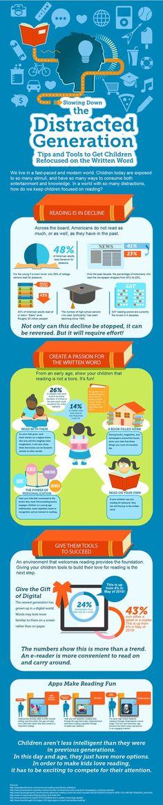 Infográfico: como manter as crianças focadas na leitura