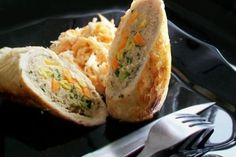 Piept de pui cu legume Romanian Food, Baked Potato, Food And Drink, Bacon, Chicken, Cooking, Ethnic Recipes, Mai, Foodies