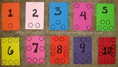 DIY Number Board (use beans, pom poms, etc)