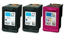 Buy #901 Ink Cartridge 3PK - 2B/1C for HP at LAinks.com. We offer to save 30-70% on ink and toner cartridges. 100% Satisfaction Guarantee.