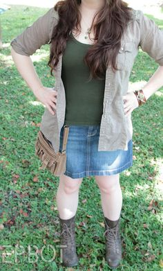Hip Bag Mod: I love the idea with the purse but also...I loooooove her outfit in this pic. It's just so effortless.