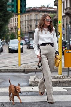 Milan Chic - Love ADR & her bold & brave fashion choices this is quite a subdued look for her..