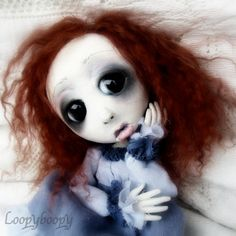 Loopy Gothic Art Doll Ooak Mannie Yung New Orleans by loopyboopy, $275.00