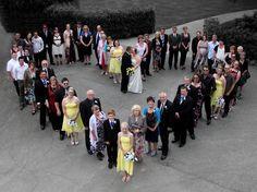 Heart wedding group with spot colour  (Garry Walls Photography & DJ)