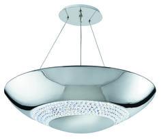 Lámpara de techo cromo Halo LED 24W 5000K H90cm 3448-8CC