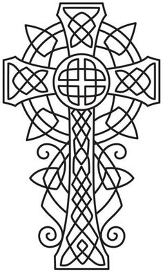 Celtic Majesty Cross | Urban Threads: Unique and Awesome Embroidery Designs
