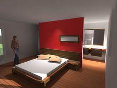 idee dressing dans une chambre avec une separation au milieu - Recherche Google