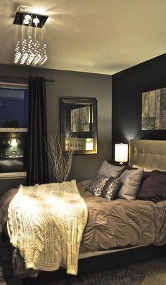 dark glam bedroom interior design