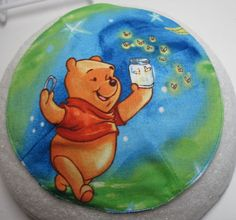 Whinne The Pooh Catching Fireflies Kippah by StudioBJC on Etsy, $15.00