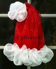 Santa Hat Wreath I made