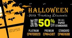 ☛ Enjoy Halloween With Freaking Discounts!! Save Upto 50% off on All Paper Standards