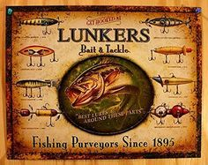 Lunker's Lures Bait and Deal with Distressed Retro Classic Tin Signal >> Copy Product Options skilled high quality metallic / tin signtin indicators are new and will have a classic or distressed appearanceenameled paint is enticing and really durablemeasures 12.50 by 16.00...