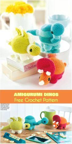 Ami Crochet Dinos [Free Pattern] Crochet Amigurumi Dinosaurs