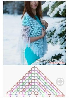 Always aspired to discover how to knit, yet unsure how to start? This kind of Total Beginner Knitting Sequence is exactl. Crochet Shawl Diagram, Crochet Wrap Pattern, Crochet Wool, Crochet Poncho, Crochet Scarves, Crochet Clothes, Crochet Patterns, Crochet Stitches, Free Crochet