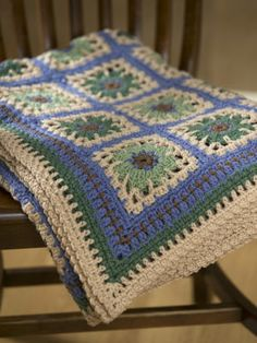 "RED HEART® ""Super Saver®"" Crochet Restful Tiles Throw"