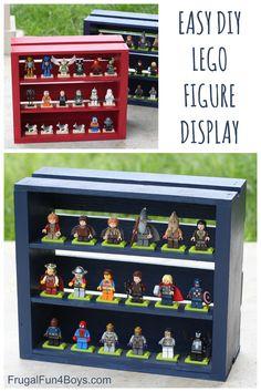 DIY Wooden Crate LEGO Minifigure Display