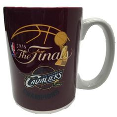 Cleveland Cavaliers 2016 NBA Champions Wine Red Yellow Navy Ceramic Coffee Mug