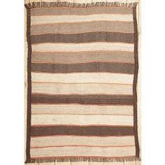 Handmade Rectangular European Area Rug in Brown, 4x6 area rug