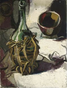 RENATO GUTTUSO Fiasco e Ciotola (Bottle and Bowl, 1958)