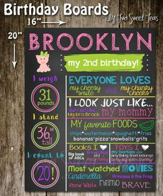 1st Birthday Favorite Things Custom Personalized Board Chalk Board Sign Age Milestone Memory Keepsake favorite things Poster Picture first