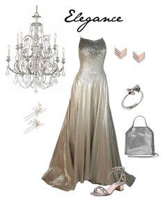 """Elegant Silver"" by coloradocutie ❤ liked on Polyvore featuring Helen Rose, René Caovilla, FOSSIL, Joy Everley, STELLA McCARTNEY, Wedding Belles New York and Swarovski"