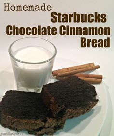 starbucks | chocolate cinnamon bread | chocolate | cinnamon | dessert | bread | pastry | copycat | dupe | homemade | recipe | coffee | coffeehouse | snack | cake | baked goods