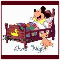 Goog Night Mickey Mouse