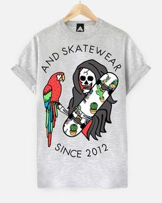 AND Skate Life Tee | ANDCLOTHING www.andclothingstore.co.uk  #andclothing #andalso #fashion #style #skate #tropical