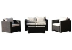 Carlo 4 Piece Deep Seating Group with Cushions