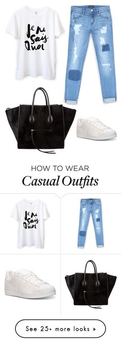 """""""Untitled #555"""" by thequeenofhighheels on Polyvore featuring Bebe, adidas and CÉLINE"""