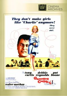 Goodbye Charlie (1964) Shot by a jealous husband, Charley falls out a porthole and is lost at sea only to find himself returned as an attractive blond woman. His best friend is staying at his house as he puts Charlie's affairs in order and after being convinced, finds himself an unwilling helper in Charlie's new plan to marry into money.  Tony Curtis, Debbie Reynolds, Pat Boone...TS comedy...not on Netflix