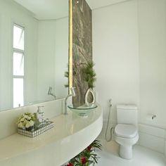 Construindo Minha Casa Clean #cubadevidro #espelho #banheiro