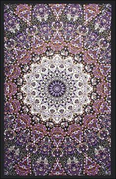 Glow-in-the-Dark - Purple India Star - Tapestry, 60 in. x 90 in., SKU: 007247