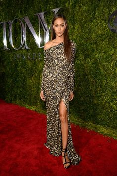 Pin for Later: See All the Red Carpet Glamour at the Tony Awards Joan Smalls In Guiseppe Zanotti heels.