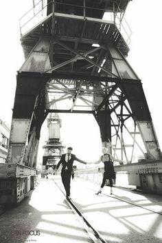 Swing Dance in the City Inspiration {E-Shoot} | Confetti Daydreams - Swing dance-inspired Bristol city engagement shoot ♥ #EShoot #EngagementShoot #E-Shoot