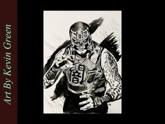 Pentagon Dark Watercolor (speed painting) Lucha Underground