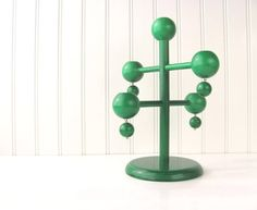 Aarikka Finland Candle Holder Green Pine Wood at VintiqueHomes on Etsy.