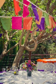 bohemian / gypsy wedding - Prayer flags. Everyone can decorate and take home their own!
