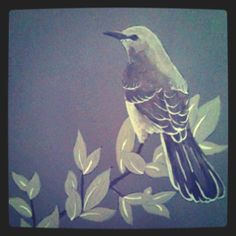 """I would paint little Mockingbirds in """"Harper's"""" room... How's this for creepy and jinxy?"""