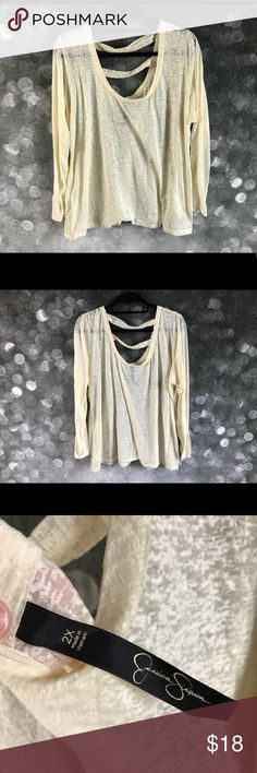 Jessica Simpson Sheer spring top size 2 XL CUTE I have a Sheer Jessica Simpson plus top in a size 2XL in worn but beautiful condition:) Happy Shopping 🛒 Jessica Simpson Tops Tees - Long Sleeve