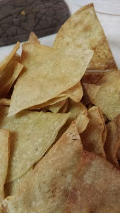 Baked Tortilla Chips - quick and easy - from The Untamed Domestic Goddess