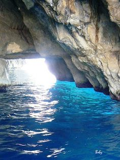 Blue cave Maltese, Islands, Cave, Places To Go, Beaches, Maltese Dogs, Island, Caves