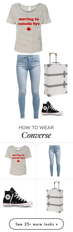 """""""Who else is coming to Canada with me?"""" by lsd-and-halloweencandy on Polyvore featuring Levi's, Converse and Globe-Trotter"""