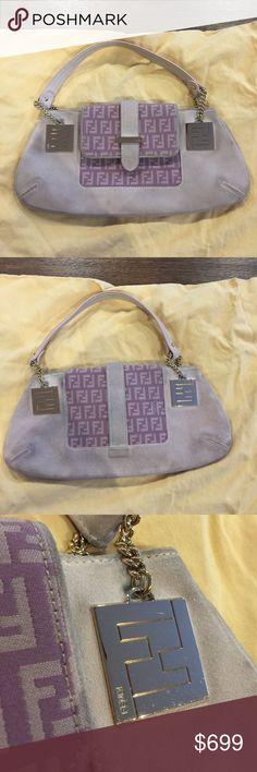 Purse Authentic Vintage Fendi Purse in pink suede. Gold hardware. Fair condition. Fendi Bags Mini Bags